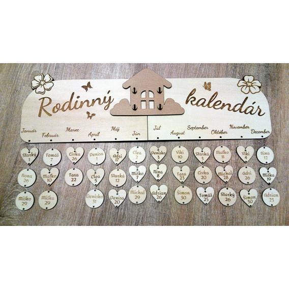 Rodinný kalendár - domcek