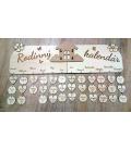 Drevený rodinný kalendár - domček