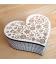 Drevená krabička - srdce