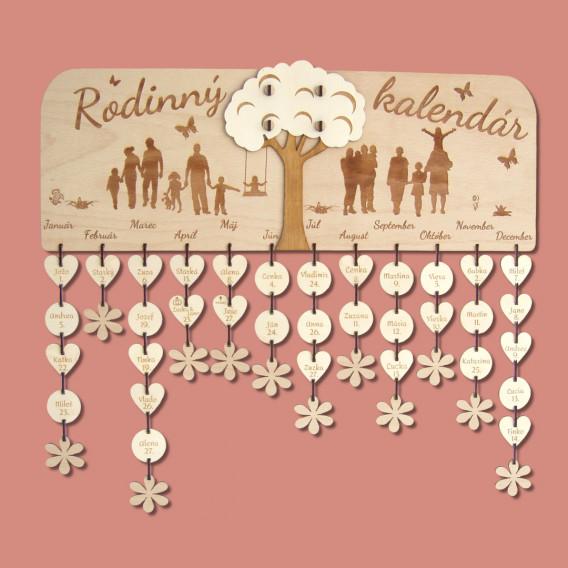 Rodinný kalendár - strom